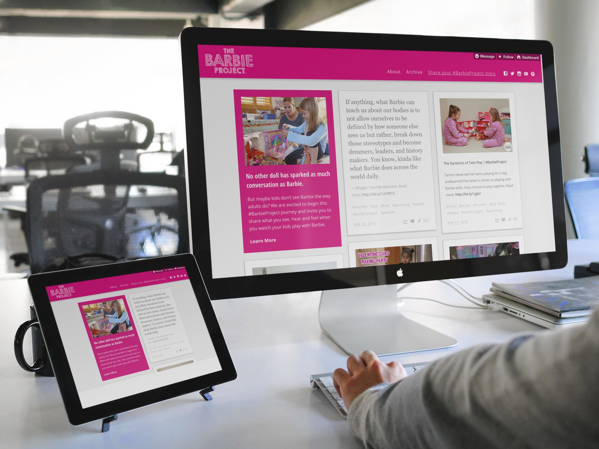 Barbie: Responsive Interactive Website